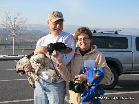 Gunnison, pup out of Dora by Luke, and his new family