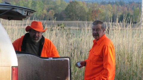 Ron and his side-kick Jack ready to head out for a great UP hunt