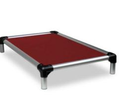 Kuranda Dog Bed - All Aluminum (Silver) - Indoor/Outdoor - Ballistic Fabric - Chewproof