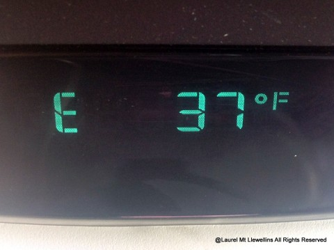 It was a balmy 37°F when we arrived at the airport Sunday afternoon.