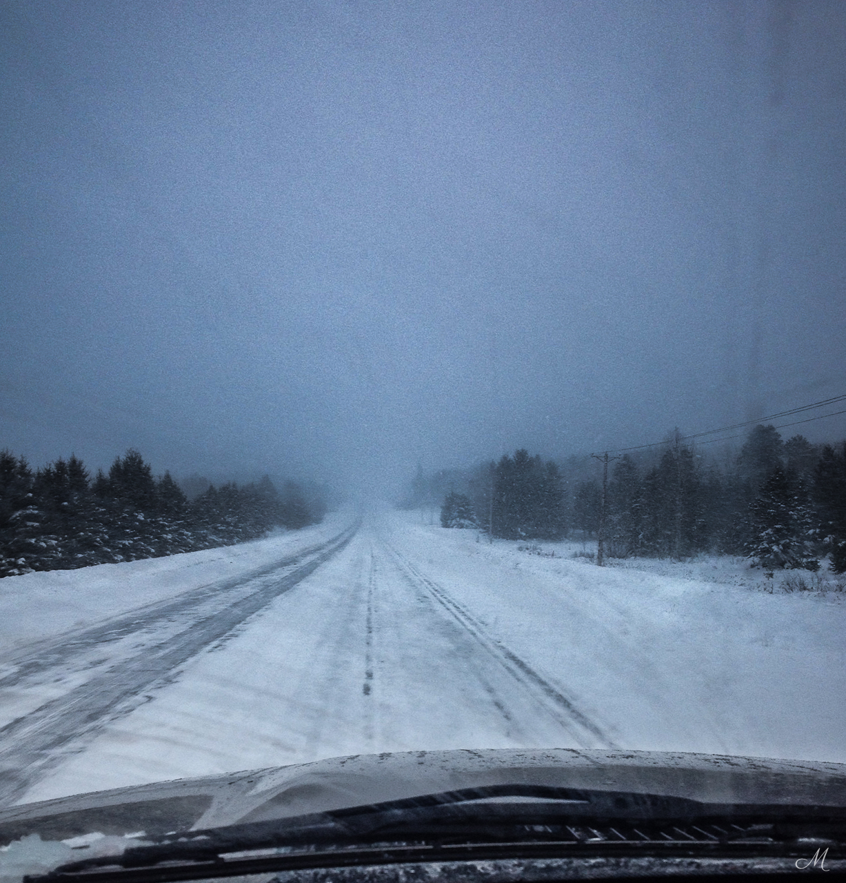 There is no getting around driving in weather like this here.