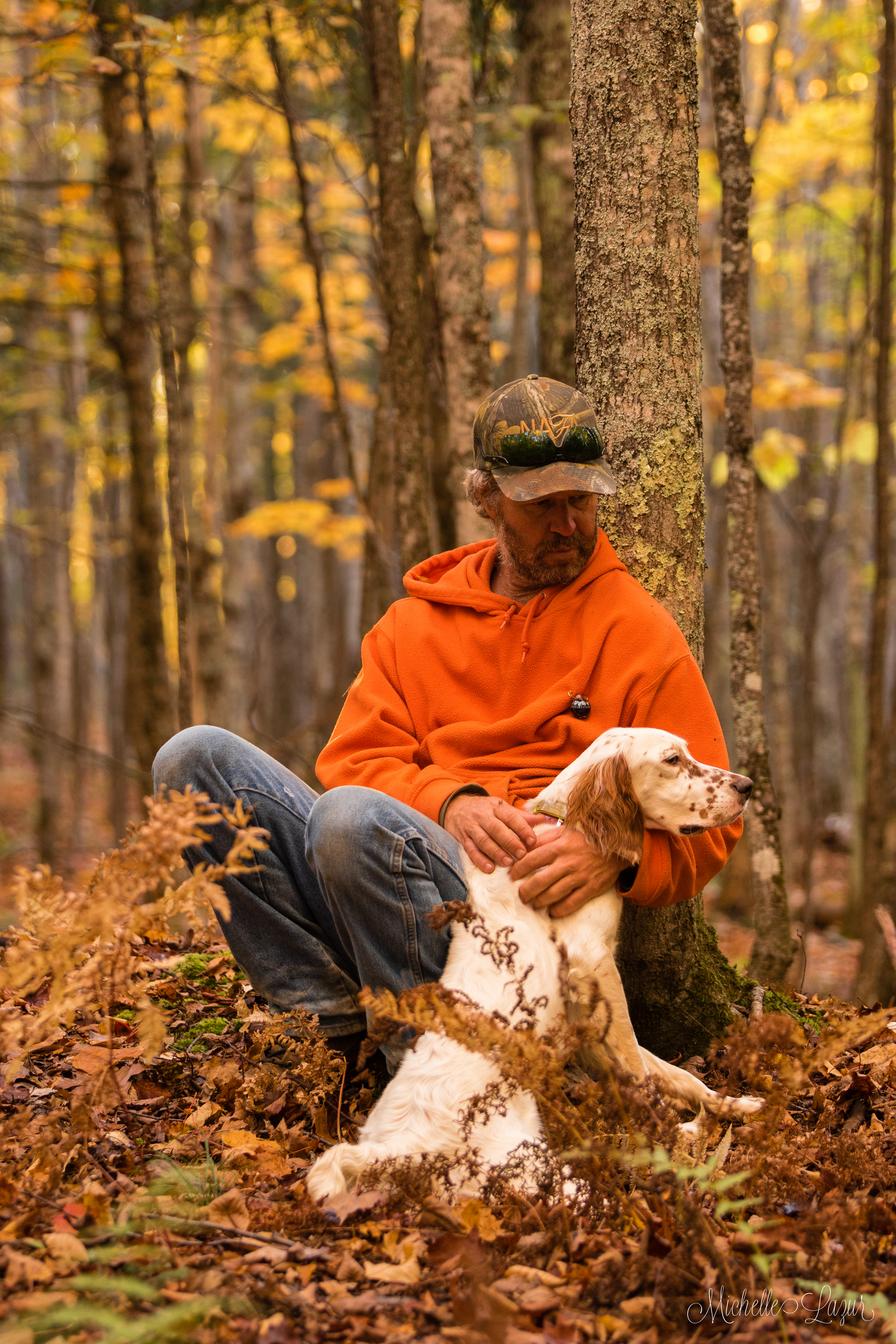 Llewellin Setter, Penny, after a lovely October Ruffed Grouse hunt.